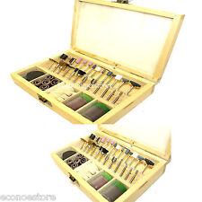 "100Pc Rotary Tool Accessory Bits Set 1/8"" For Dremel Bit Jeweler Polisher W/Case"