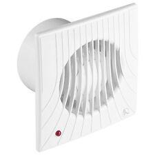 "Bathroom Extractor Fan 100mm 4"" Timer & Humidity Sensor Steam Humidistat WA100H"