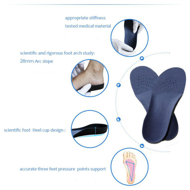 Medical grade Orthotic Insoles Arch Support Heel Cup- pronation,flat feet fallen
