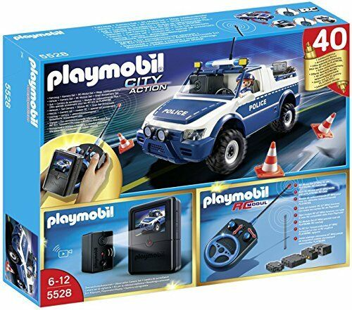 PLAYMOBIL 5528 RC Police Car with Camera Nuovo sealed in box OOP