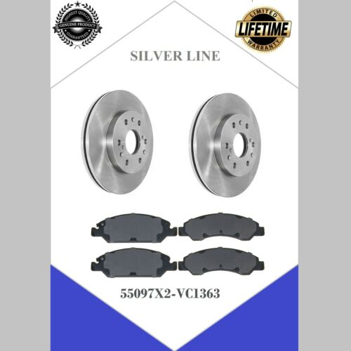2008 to 2018 Front Brake Rotors /& Centric Brake Pads For Chevy Silverado 1500