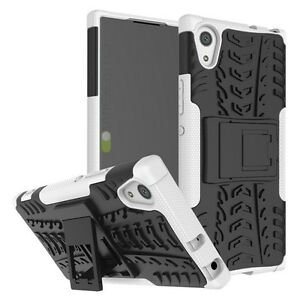 Hybrid-Case-2-Pieces-Outdoor-White-Pouch-For-Sony-Xperia-XA1-Tab-Cover-New