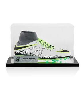 ceff9803acdf Image is loading Jamie-Vardy-Official-England-Signed-Grey-Nike-Hypervenom-