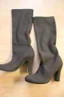 Boden Brown Mock Suede Heel Knee Boots Size 36 Uk 3