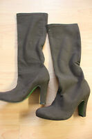 Boden Brown Mock Suede Heel Knee Boots Size 36 Uk 3