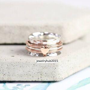 Solid-925-Sterling-Silver-Spinner-Ring-Meditation-statement-Love-Ring-sr52014