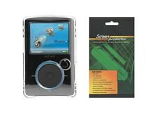 Clear Snap On Hard Cover Case +Screen Protector for Sandisk Sansa Fuze (SDMX14R)