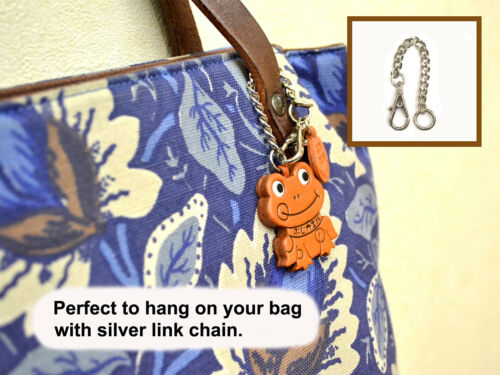 Pomeranian Handmade 3D Leather Dog Bag//Ring Charm//Gift VANCA Made in Japan 26068