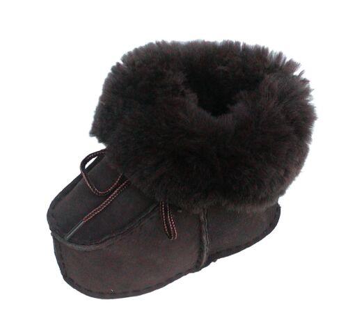 Größe 17-24 Baby Fellschuhe braun Lammfell Baby Schuhe braun