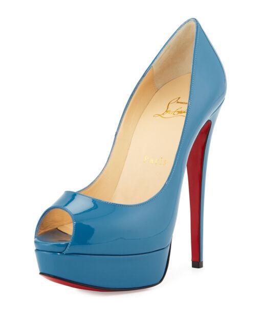 quality design 66ead 69842 Auth Women Louboutin Ocean Lady PEEP 150 Patent Platform Pumps/heels US 9.5