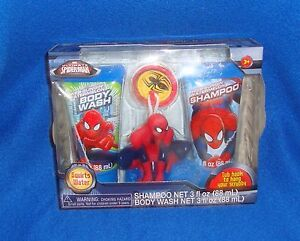 Spider-Man-Soap-amp-Scrub-Set-New-Never-Opened