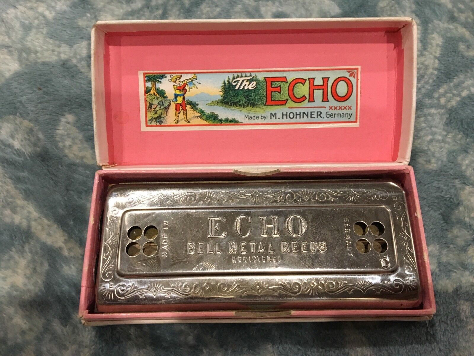 Die Echo Harp 54 64 M2 Hohner Made in Germany C G