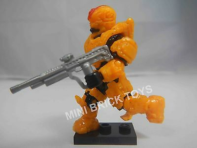 HALO Mega Bloks DELTA Series 13 Yellow UNSC PROTECTOR MiniFigure DMR Rifle NEW