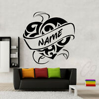 Custom Name Heart Wall Art Quote Decal Vinyl Sticker
