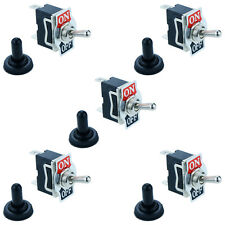 5 x Waterproof On/Off Toggle Flick Switch 2-Pin 15A SPST