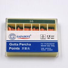 1 Box Dental Use Gapadant Gutta Percha Points 35 Endodontics 120pcspack