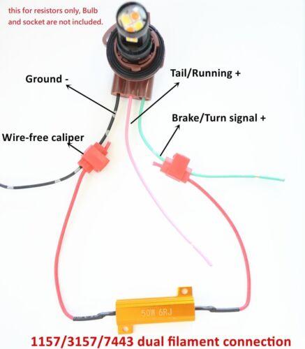 1156 LED Canceler Resistor No Hyper Flash Flicker Dash Error Reverse Backup W1