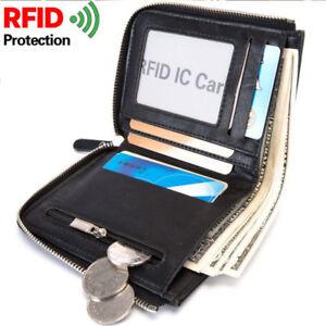 Hombres-Negocios-Cartera-Billetera-de-cuero-Tarjeta-de-credito-Monedero-RFID-Nue