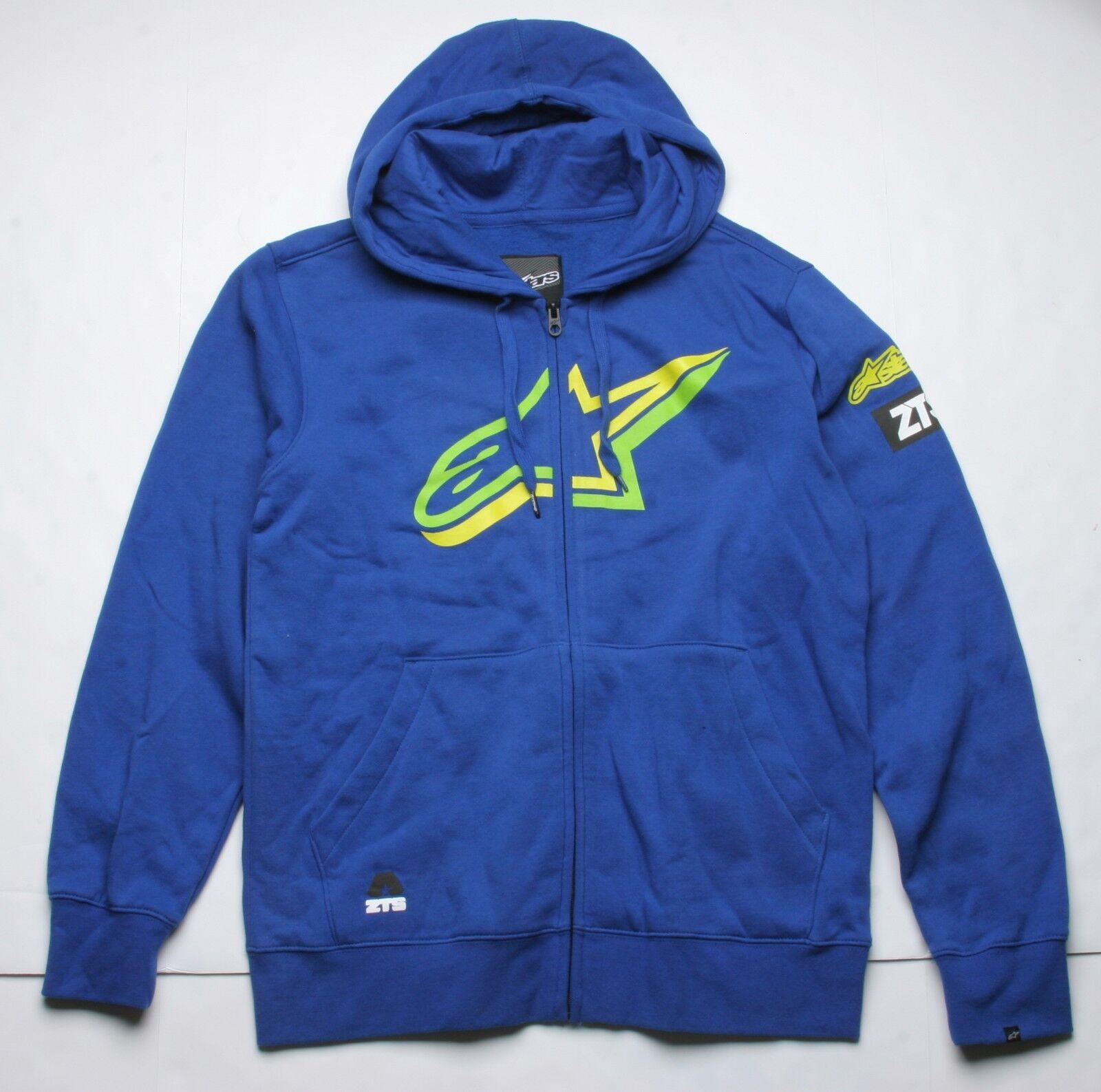 Alpinestars Barton Zip Fleece Hoody (M) Blue