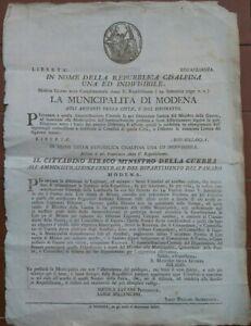 1797-MILANO-REPUBBLICA-CISALPINA-PREMI-PER-CHI-ARRESTAVA-I-LEGIONARI-DISERTORI