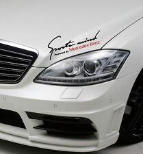 Sports Mind Powered by Mercedes Benz Sport Racing Decal sticker emblem logo BLk