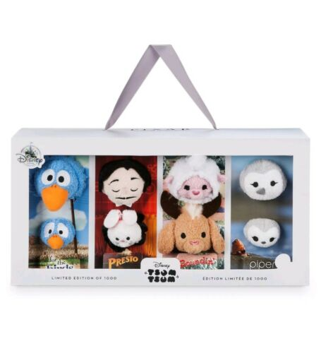 2017 Disney D23 Expo Pixar Shorts Tsum Tsum Box Set Presto Birds Piper Boundin