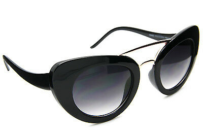 Designer Inspired Cat Eye Fashion Sunglasses Thick Frame Retro Style Celebrity