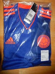 a89148e6da6ef Details about New Colombia 2018/19 away blue football shirt soccer jersey  Adidas BNWT M