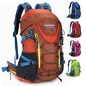 New men women Waterproof Sport travel Hiking Camping backpack Rucksack bag nylon