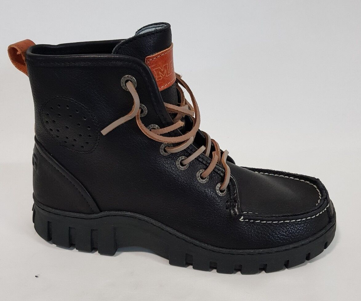 Mens Shoes Mag Megamok Size 42 or 9 Black $179.00 Leather Boots BNIB rrp $179.00 Black 21bd60