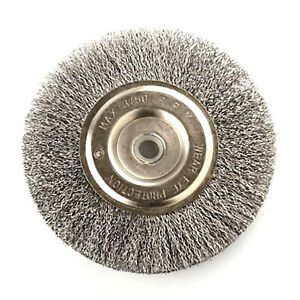 6 Quot Steel Wire Wheel Brush Abrasive 5 8 Quot Arbor 1 2 Quot Adapter