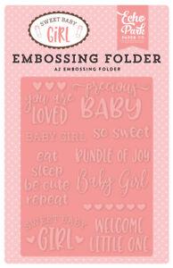 Echo Park ~ SLEEP TIGHT ~ Sweet Baby Boy A2 Embossing Folder Night Sky