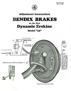 image is loading 1930-dynamic-erskine-model-53-brake-adjustment-and-