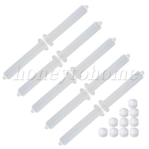 10pcs Plastic 55CC EFD USA Type Dispenser Industrial Syringe Barrel /& Pistons