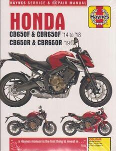 2014 - 2019 honda cb650f cbr650f cb650r cbr650r haynes repair manual | ebay  ebay