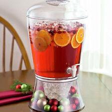16PINT ON ICE BEVERAGE DRINKS JUICE DISPENSER FRUIT INFUSER CLEAR PARTY WINE JAR