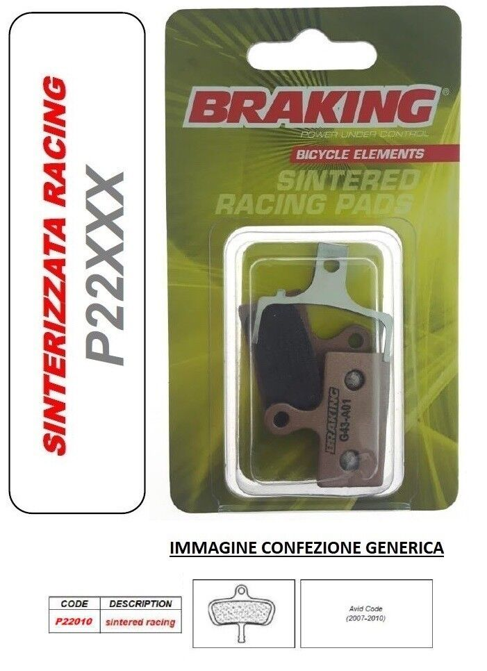 BRAKING PASTIGLIE FRENO SINTERIZZATA RACING MTB DOWNHILL Avid Code (2007-2010)