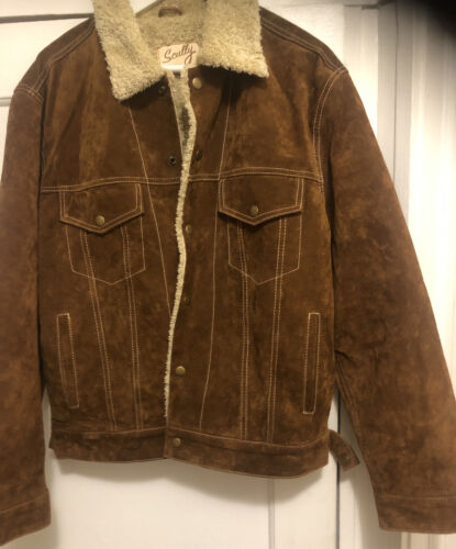 Scully Men's Leather Jacket - Cafe Brown - Medium