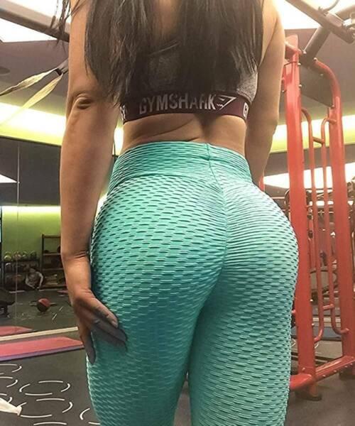 Damen Yoga Hose Leggings Push Up Sporthose Fitness Gym Jogging Stretch Leggins