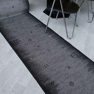 moderner-Velours-Teppich-Laeufer-034-AW-GABBEH-034-smoke-80-cm-breit-rutschfest