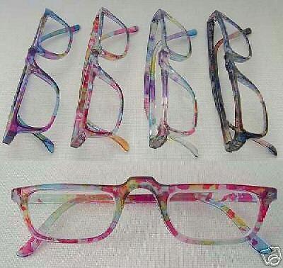 4 Pair Reading Glasses $48 Value WATERCOLORS +1.25