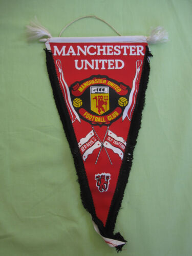 Fanion Manchester United Red Devils vintage pennant supporter England