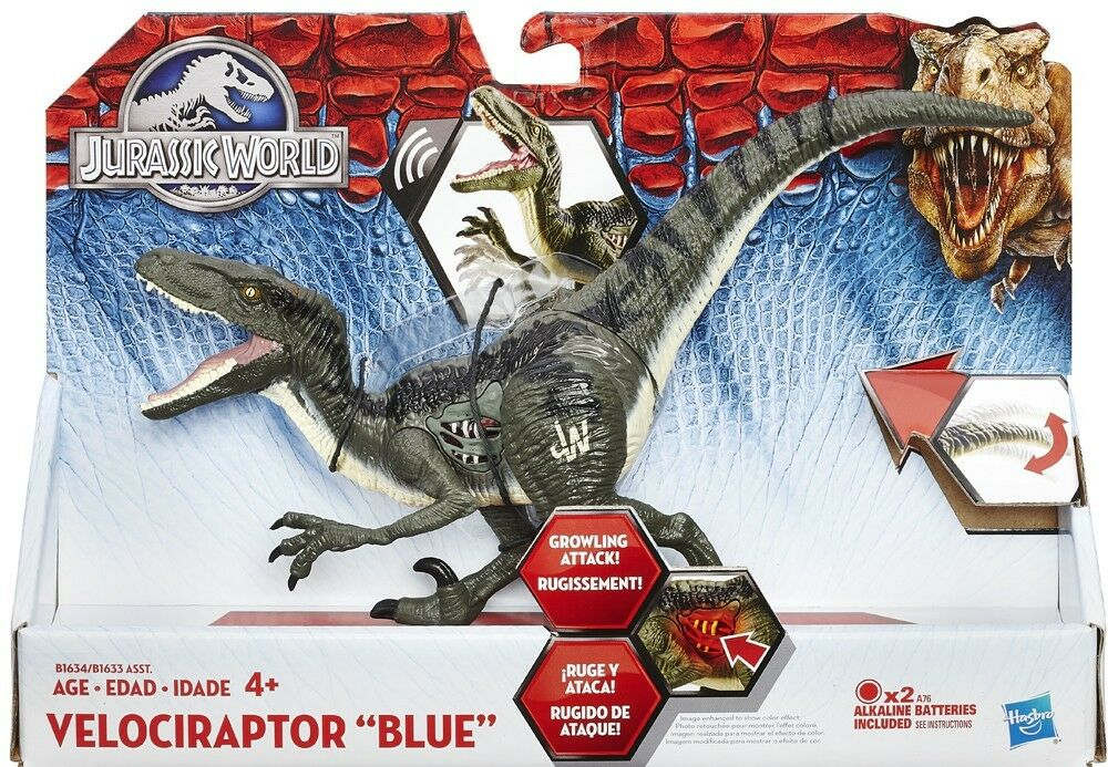 Jurassic World Growler Velociraptor blu Action Figure