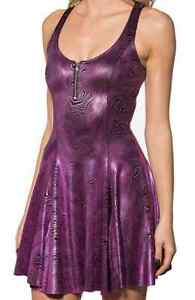 Black-Milk-NWT-SMALL-DISCO-SWIRL-EVIL-ZIP-DRESS-Museum-SOLD-OUT