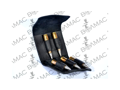 Open-Minded New Leather Rifle Cartridge Holder Pouch Belt Ammo Made In Europe Usa Sealer !