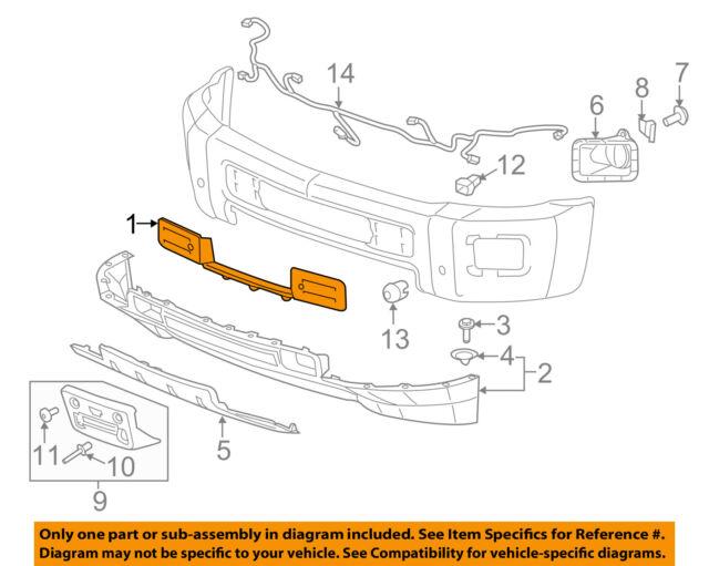 15746399 GM1051106 Front New Bumper Face Bar Filler Chevy Silverado 2500 HD 3500