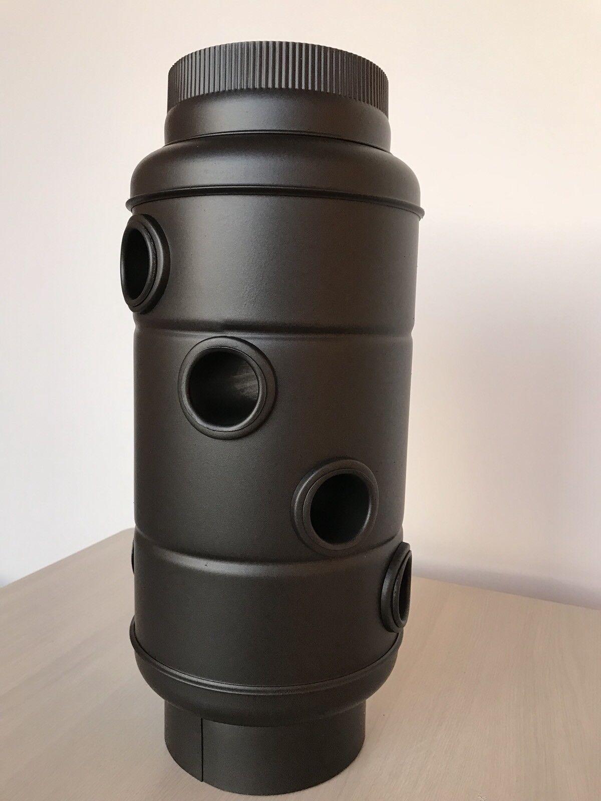 Rauchgaskühler Wärmetauscher (R) Ofen 150mm schwarz