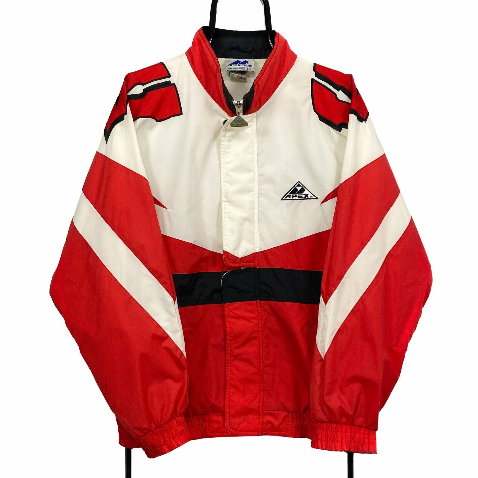 APEX ONE NCAA Wisconsin Badgers College Colour Block Windbreaker Jacket Large