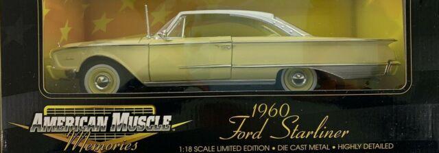 #32299 American Muscle Memories Yellow 1960 Ford Starliner Die Cast 1:18