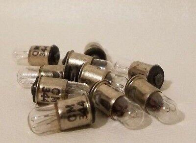 Lot of 10 Chicago Miniature 344 CM344 Midget Flange Lamps Light Bulbs 10V .015A